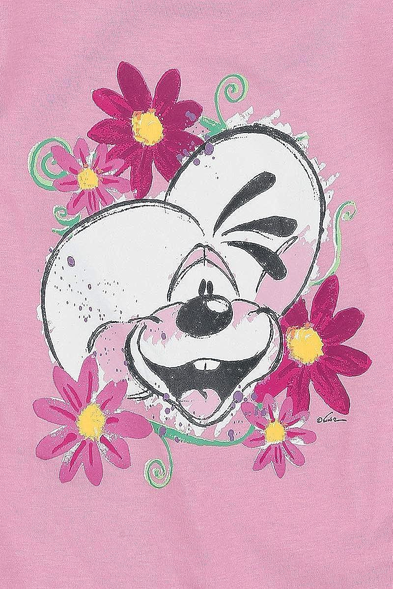 Blumensammler T-Shirt Kurzarm Neuheit Rosa Diddl Forever