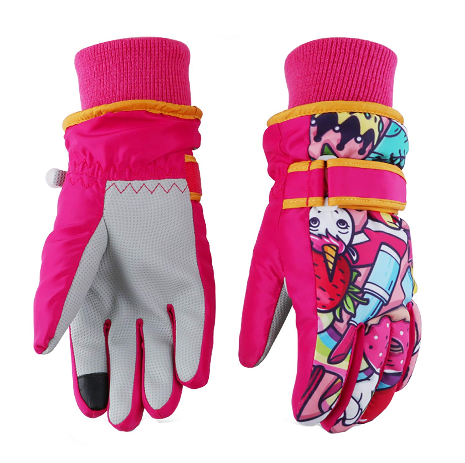 JoJoSports Kids Ski Gloves, Winter Warmest Waterproof and Breathable Snow Gloves for Boys Girls Children Skiing, Snowboarding Shoveling Windproof Juniors Thermal Gloves ST8