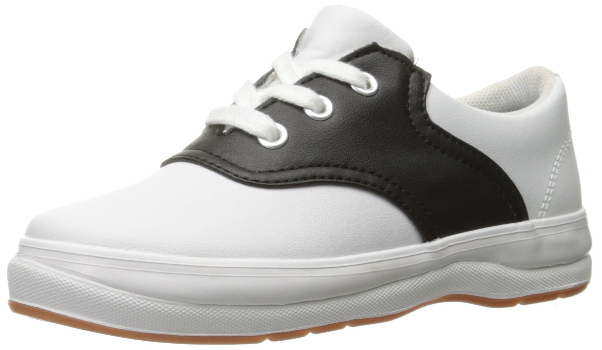 Keds School Days II Uniform Sneaker (Toddler/Little Kid), White/Black, 12 M US Little Kid