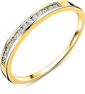 anillo de oro blanco con 5 diamantes