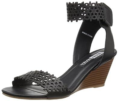 caa24aff8030 XOXO Women s Sadler Wedge Sandal Black 5 ...