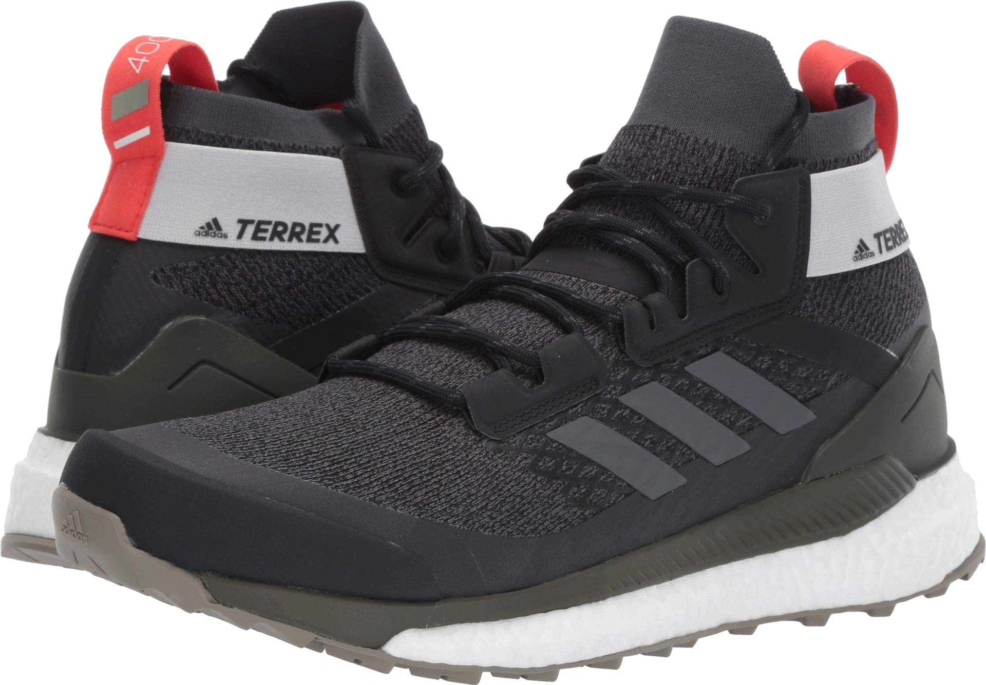 adidas outdoor Terrex Free Hiker Boot - Men's Black/Grey Six/Night Cargo, 7.5