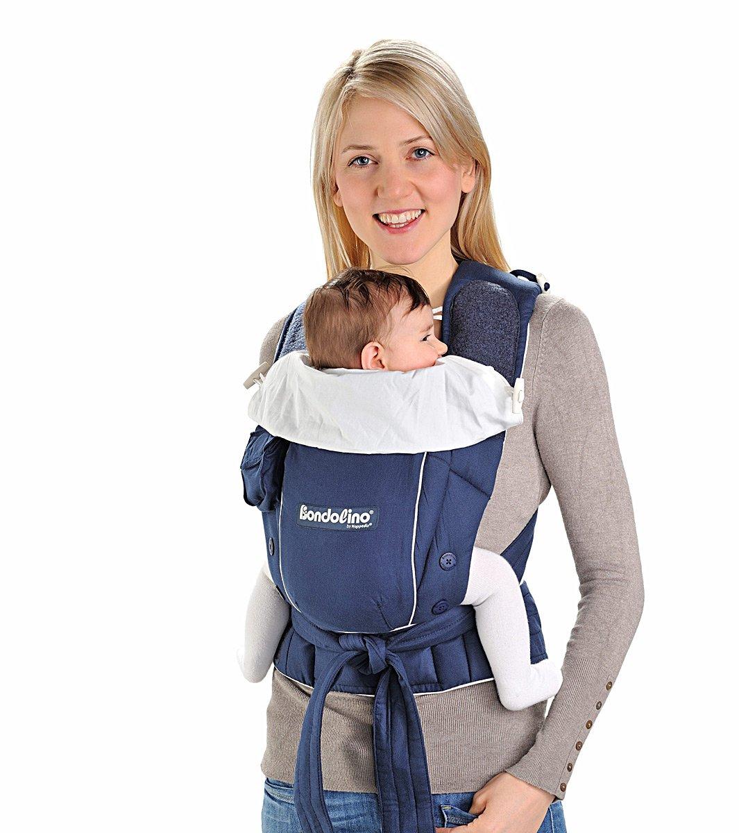 Bondolino Babytrage inklusive Bindeanleitung leicht marine-creme