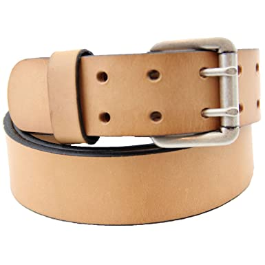 8810f2f3ca297 Orion Leather 1 1 2 Natural Tan Harness Leather Belt Double Hole Size 32