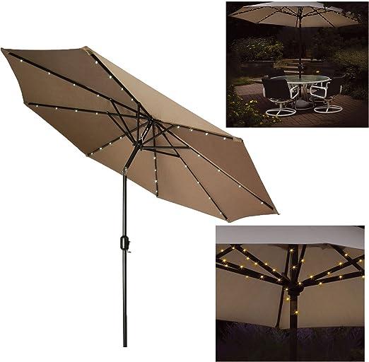 72 luces LED solares para jardín, parasol, luz de cadena de 8 luces de carreras, diseño de hadas: Amazon.es: Iluminación