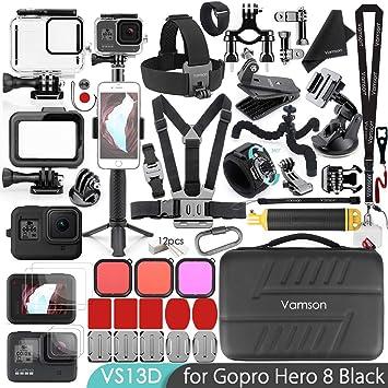 Gopro Accessoires Kit 18 en 1 Set Chest Head Strap pour Gopro Hero 2 3 3 4 5 5+