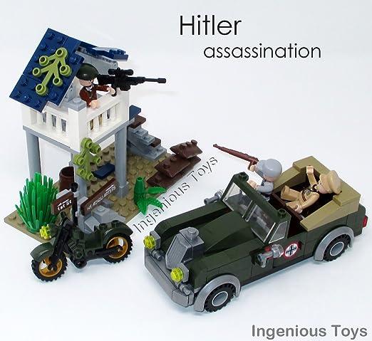 Set Bloques Jouets Assassinat Ingenious Militaire De Guerre 206pcs Mondiale Construction1708 Hitler Seconde rQdoWCexBE