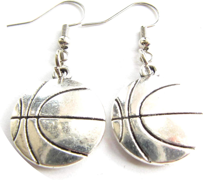 Pendientes de baloncesto para mujer, diseño de equipo de ...