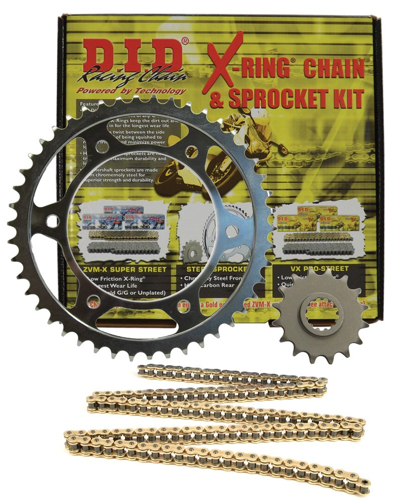 DKK-008G 525ZVM-X Gold Chain and 17//41T Sprocket Kit D.I.D.