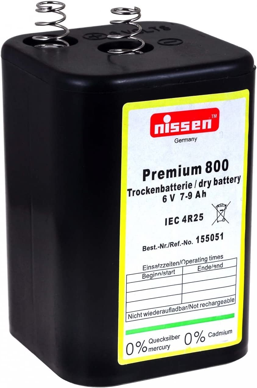 Nissen 4r25 6v Blockbatterie Premium 800 Zink Kohle Elektronik
