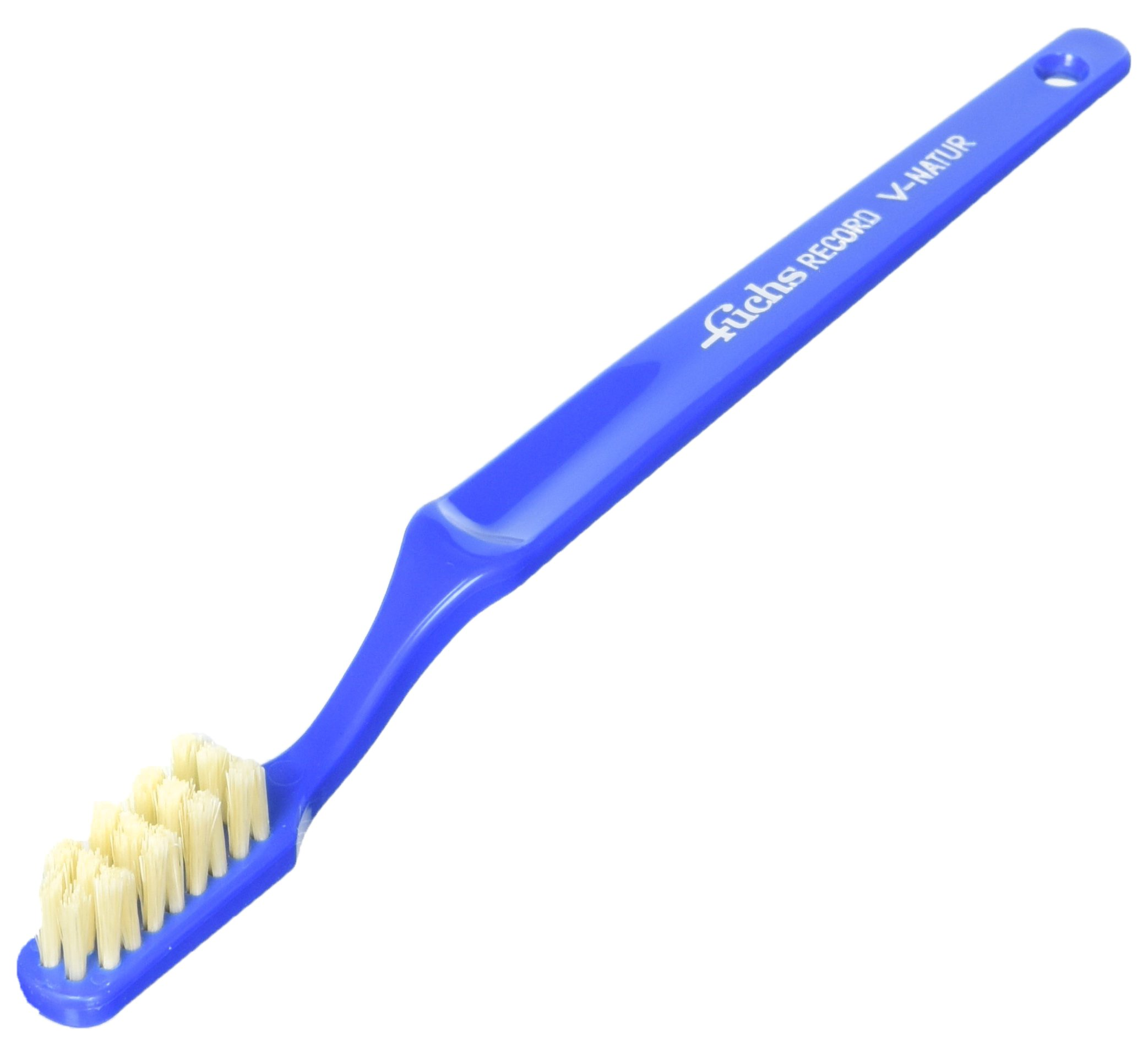 Fuchs Brushes Toothbrushes Pure Natural Boar Bristle Record V Adult Soft, 5 Count