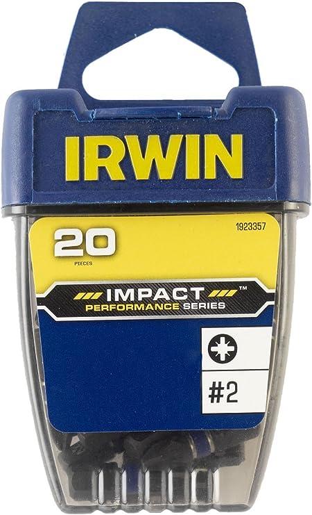 Impact Screwdriver Bits PZ2 25mm Pack of 2 IRWIN
