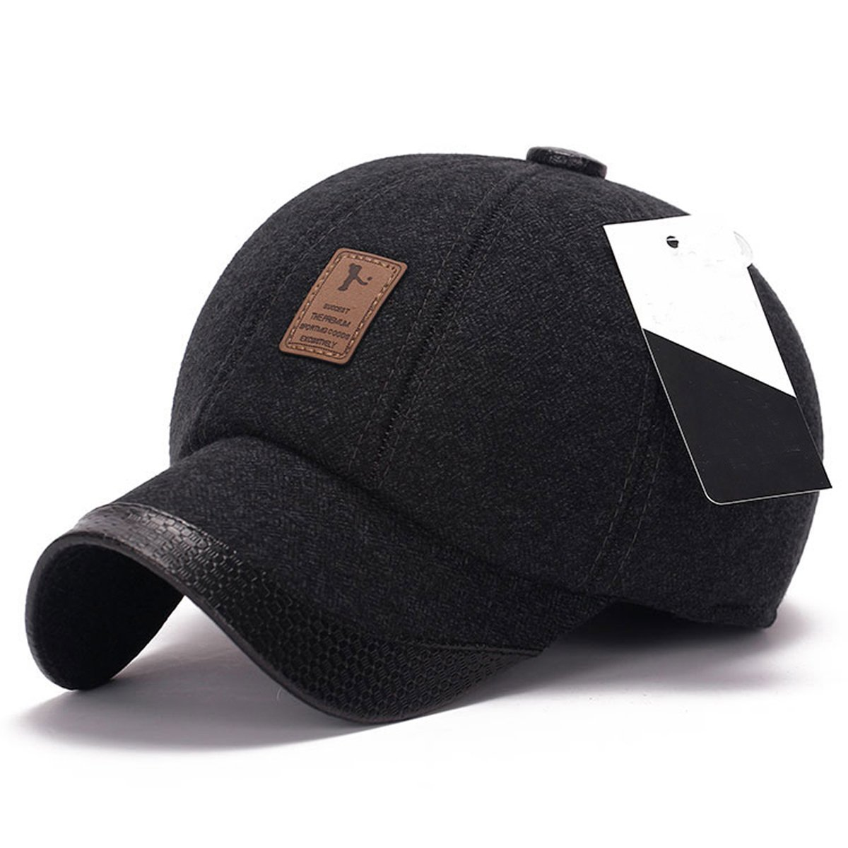 King Star Men Flexfit Wool Warm Winter Solid Plain Baseball Cap Hat Black  at Amazon Men s Clothing store  30407c6f67c