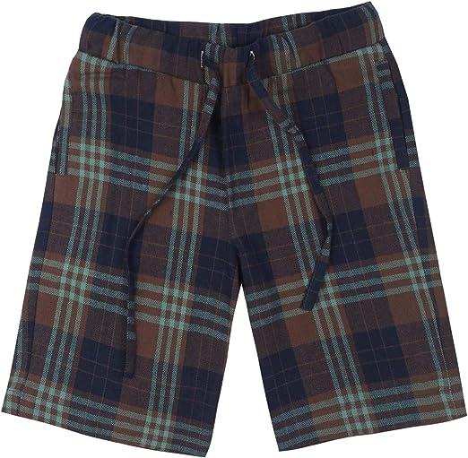 Spring&Gege Pantalones cortos de pijama de franela de algodón 100% suave a cuadros para niños