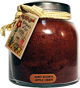 A Cheerful Giver Aunt Kook's Apple Cider 34 oz. Papa Jar Candle, 34oz