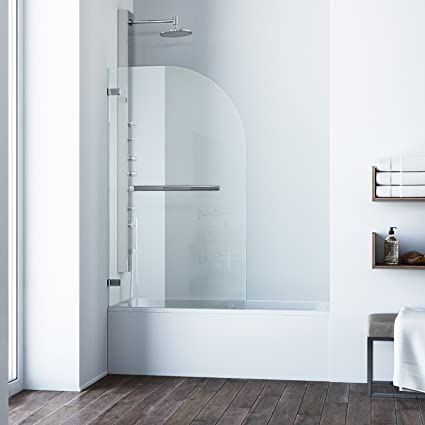 Curved Bathtub Door With .3125 In. Clear
