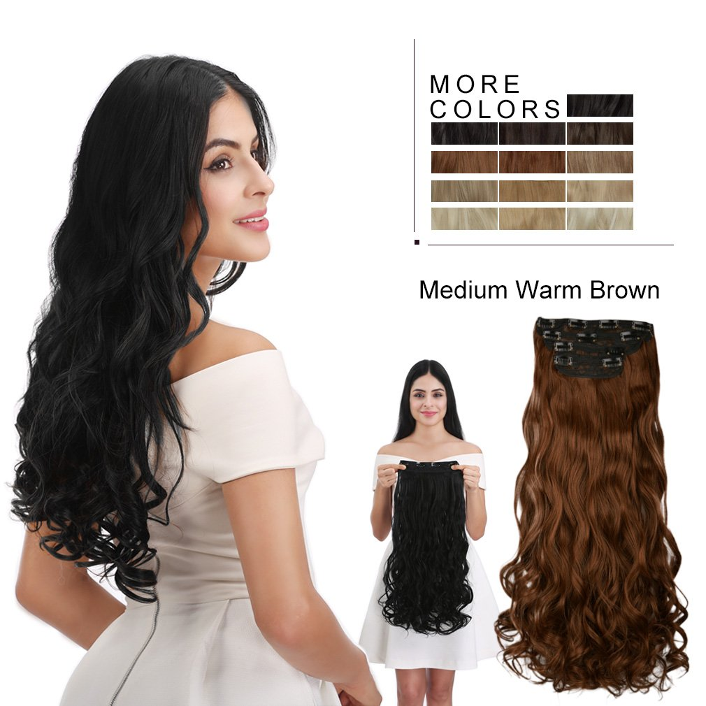 Amazon Reecho Hair Extensions 18 Long 220g Thick Volume Clip