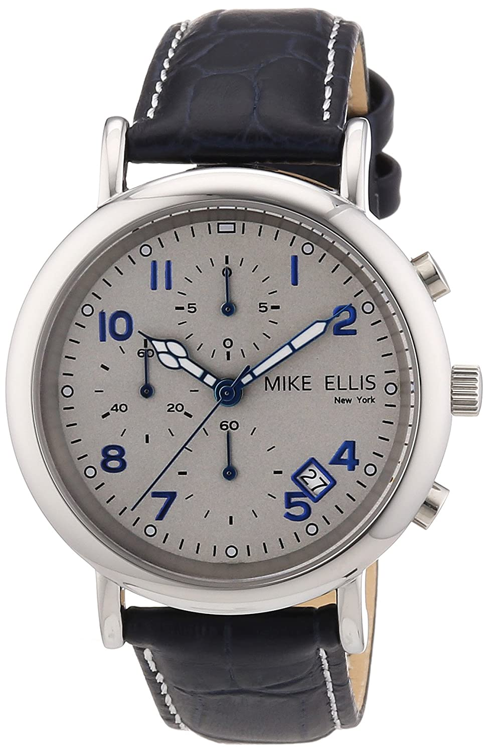 Mike Ellis New York Herren-Armbanduhr XS Analog Quarz Leder M2690SSL-1