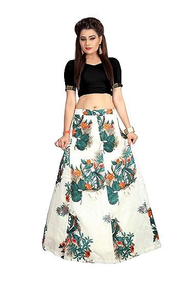 Buy Aika Women S Satin Lehenga Choli Lahf2196 Beige Free Size At Amazon In