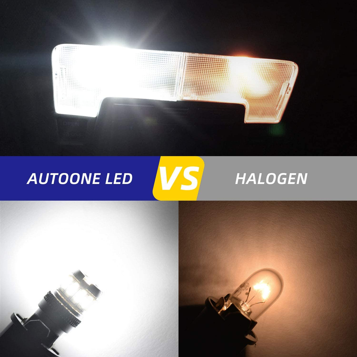 AUTOONE Interior Car Lights 168 2825 W5W T10 Light Bulbs Error Free for Dome Map Parking Trunk Door Courtesy License Plate Lights 6500K White Pack of 2 194 LED Bulb