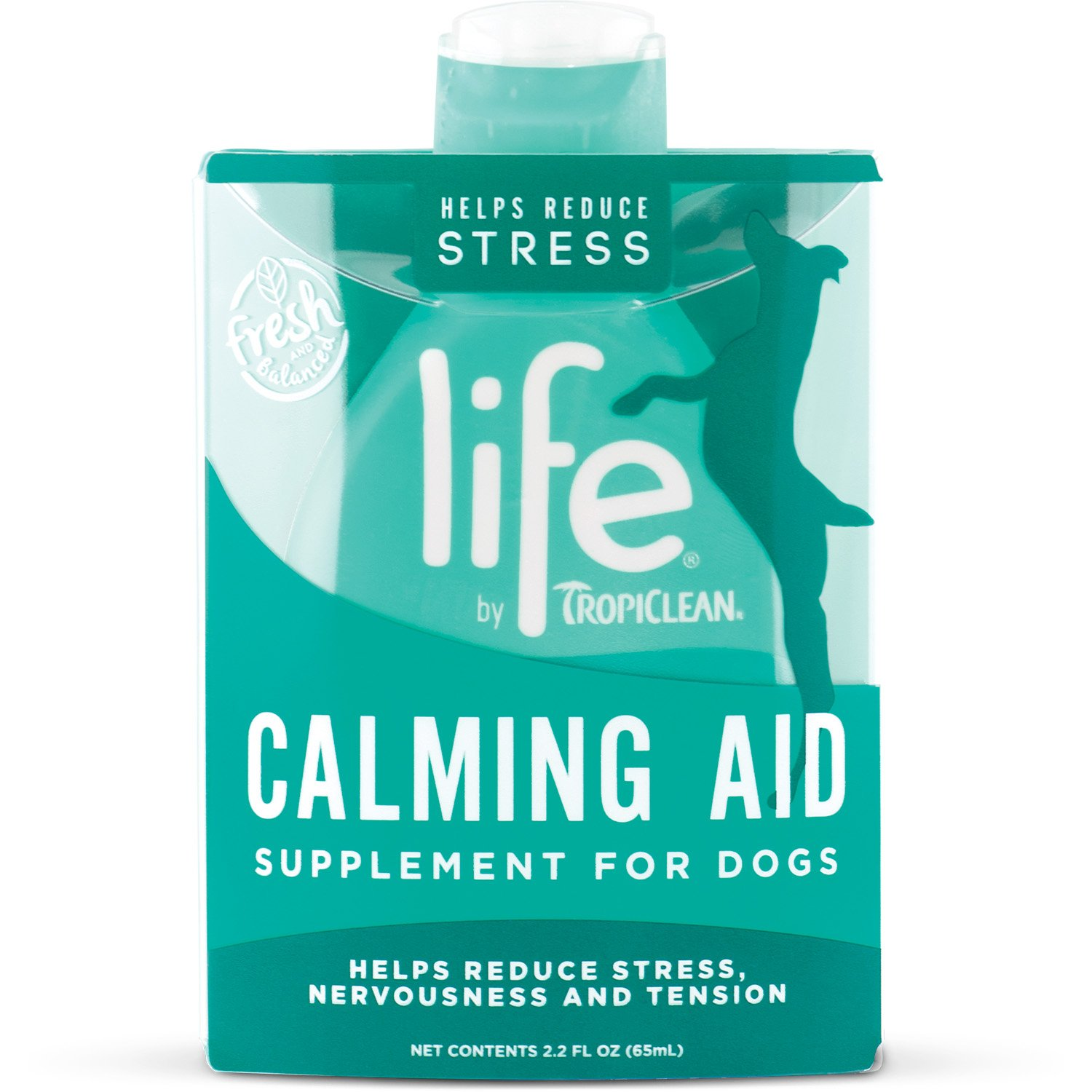TropiClean Life Calming Aid Supplement for Dogs, 2.2oz, Made in USA by TropiClean