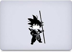 "So Cool - Dragon Ball Z - Goku - Vinyl 5"" tall (Color BLACK) decal laptop tablet skateboard car windows sticker"
