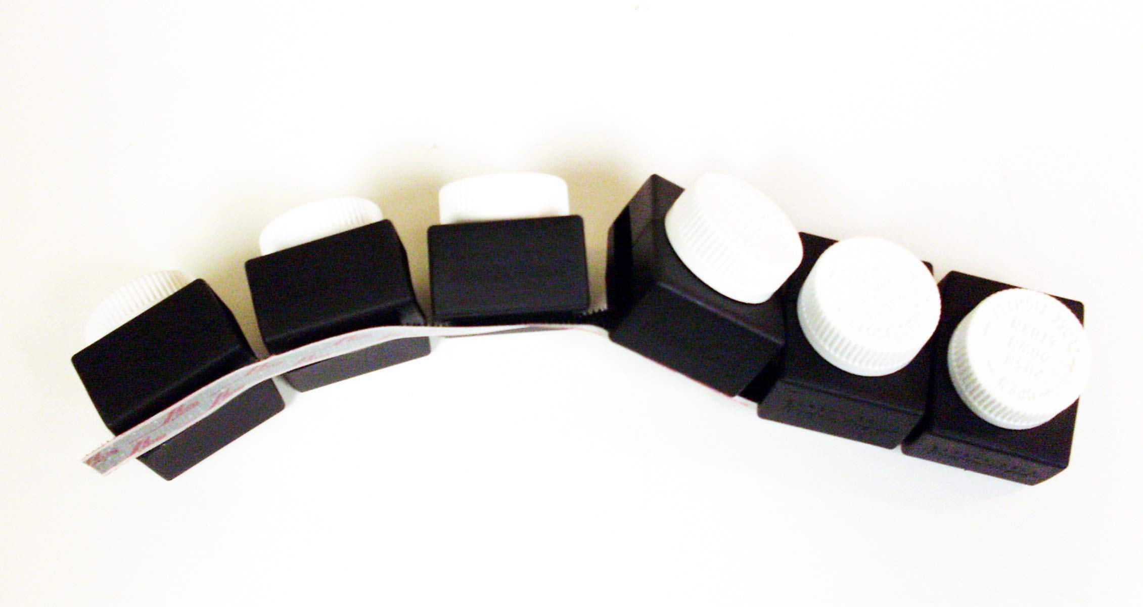 Buckle Guard Bus Kit (Black) - Seat Belt Button Covers for Buses Includes 6 Units Plus Velcro for Storing, Perfect for Schools