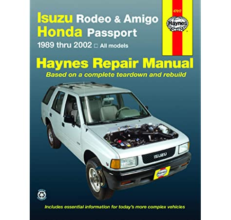 [TBQL_4184]  Isuzu Rodeo, Amigo, & Honda Passport covering Isuzu Rodeo (91-02), Isuzu  Amigo (89-94), Isuzu Amigo (98-02), Honda Passport (95-02) Haynes Repair  Manual (Haynes Repair Manuals): Haynes: 9781563924811: Amazon.com: Books | Car Diagrams Isuzu Rodeo 2002 |  | Amazon.com