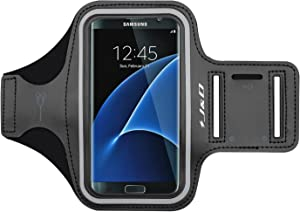 J&D Armband Compatible for Samsung Galaxy S10/Galaxy S10e/Galaxy S9/S8/S7/S7 Edge/iPhone X/iPhone Xs/iPhone 8/7/6S/iPhone 6 Armband, Sports Running Armband with Key Holder Slot Earphone Connection
