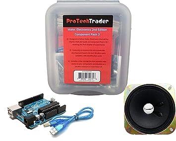 protechtrader Make: Electrónica 2 nd Edition componente Pack 3 – Kit de electrónica con Arduino
