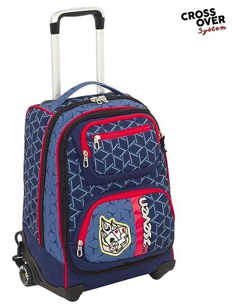 730d52b807 Seven Trolley Combo - Dice Boy - Blue - Spallacci a Scomparsa! Uso Zaino  Scuola e Viaggio: Amazon.it: Abbigliamento