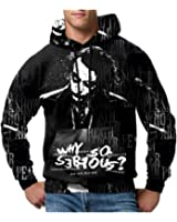 The Joker Black print Sublimation PullOver Hoodie sizes: S to 3XL