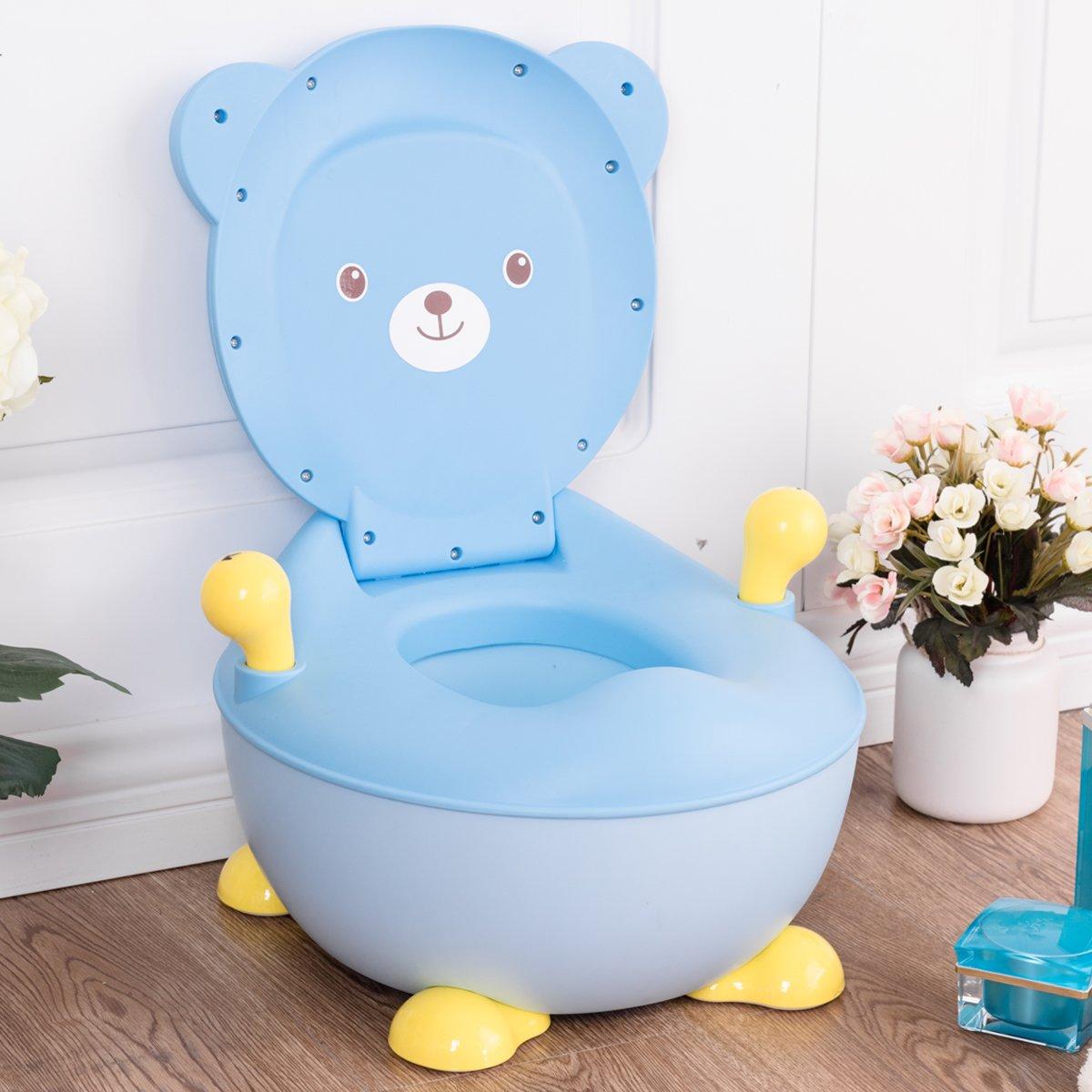 familie.de-Tipp: Kindertöpfchen mit Griffe zum Toilettentraining für Kleinkinder von 6 Monaten bis 5 Jahre