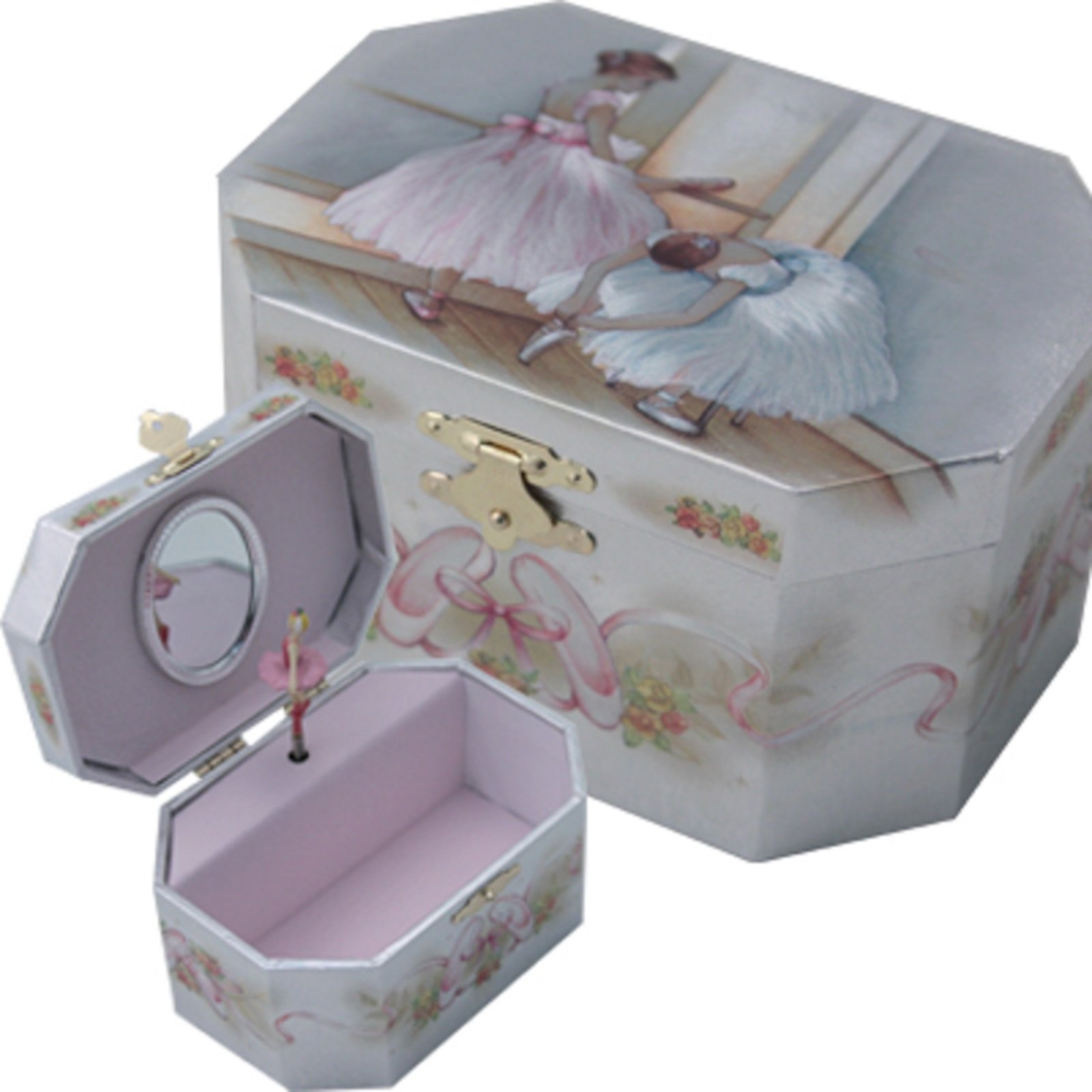Ballerina Jewelry Music Box-Wooden material (Wood)