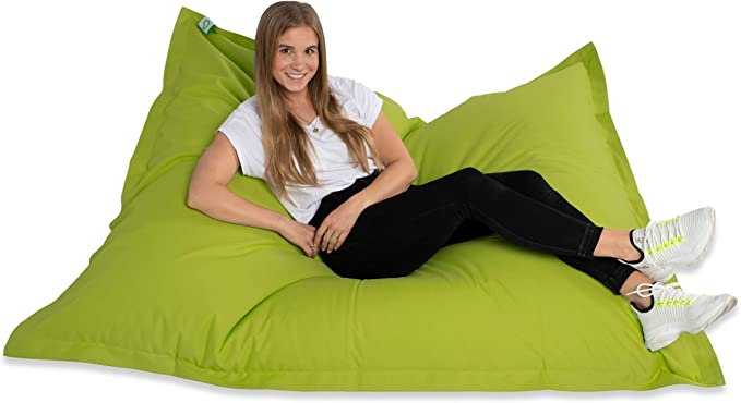 Green Bean© Bean Bag - EPS (Expanded Polystyrene) Bead Filling - PVC (Polyvinyl Chloride) or Cotton Cover for Indoor and Outdoor Use Bean Bag for Children and Adults - Floor Cushion Seat Cushion Bean Bag: Amazon.de: Küche & Haushalt