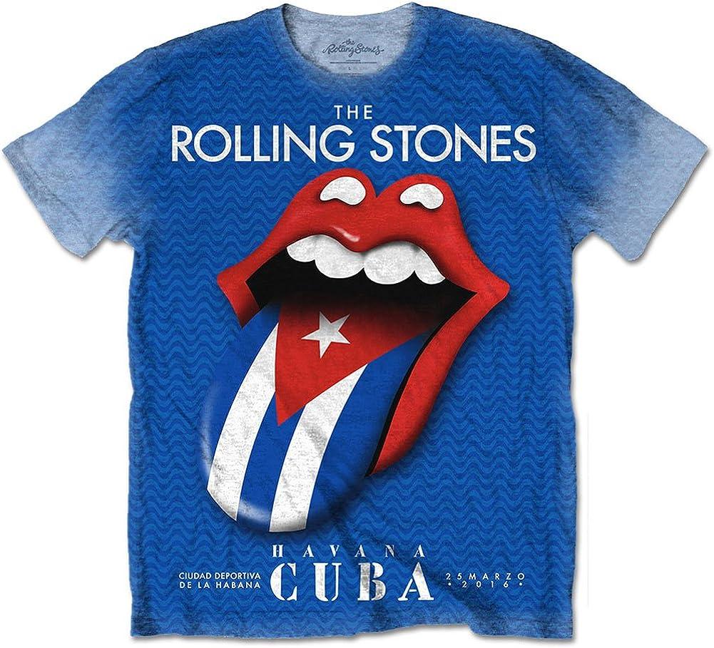The Rolling Stones Ladies Fashion Tee Havana Cuba with Snow Wash Finishing