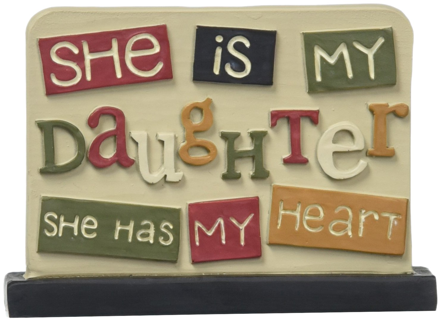 Blossom Bucket ''She is My Daughter' Plaque Decor