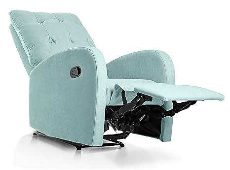 SUENOSZZZ-ESPECIALISTAS DEL DESCANSO Sillon Relax, Soft, Sillón reclinable, Sillones tapizados Tela Antimanchas Verde Agua | Sillones reclinables de ...