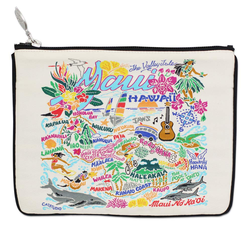 Catstudio Maui Zip Pouch | Use as Wallet, Clutch, Handbag or Makeup Bag