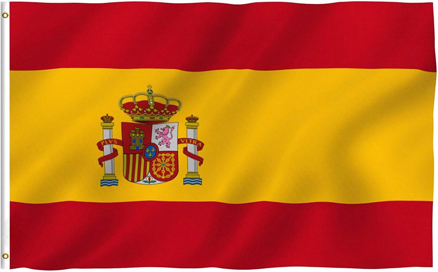 Bandera de España, Grande Bandera Nacional Española Poliéster 150 ...