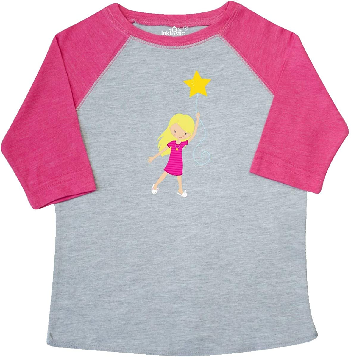 Girl Holding a Star inktastic Girl in Pajamas Cute Girl Toddler T-Shirt