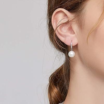 Lightweight Earrings Pearl Valentines Day Dainty Earrings Drop Dangle Earrings