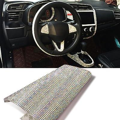ygmoner 9000pcs Bling Crystal Rhinestone 9.4 x 7.9'' DIY Car Decoration Sticker (A+B Color): Automotive