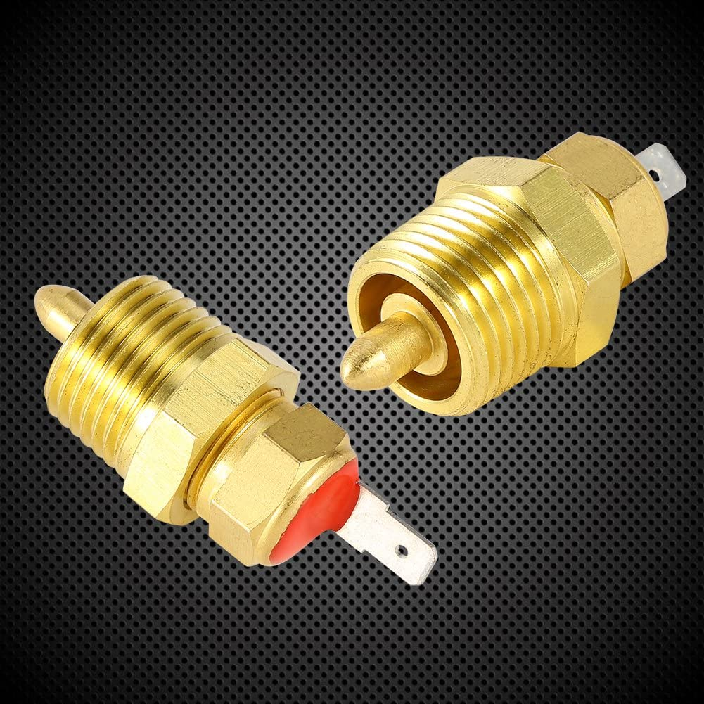 Keenso 185 to 175 Degree Gold Electric Engine Cooling Fan Thermostat Temperature Sensor Switch with 3//8 Pipe Thread for 10 12 14 16 Fan Fan Thermostat Temperature Switch