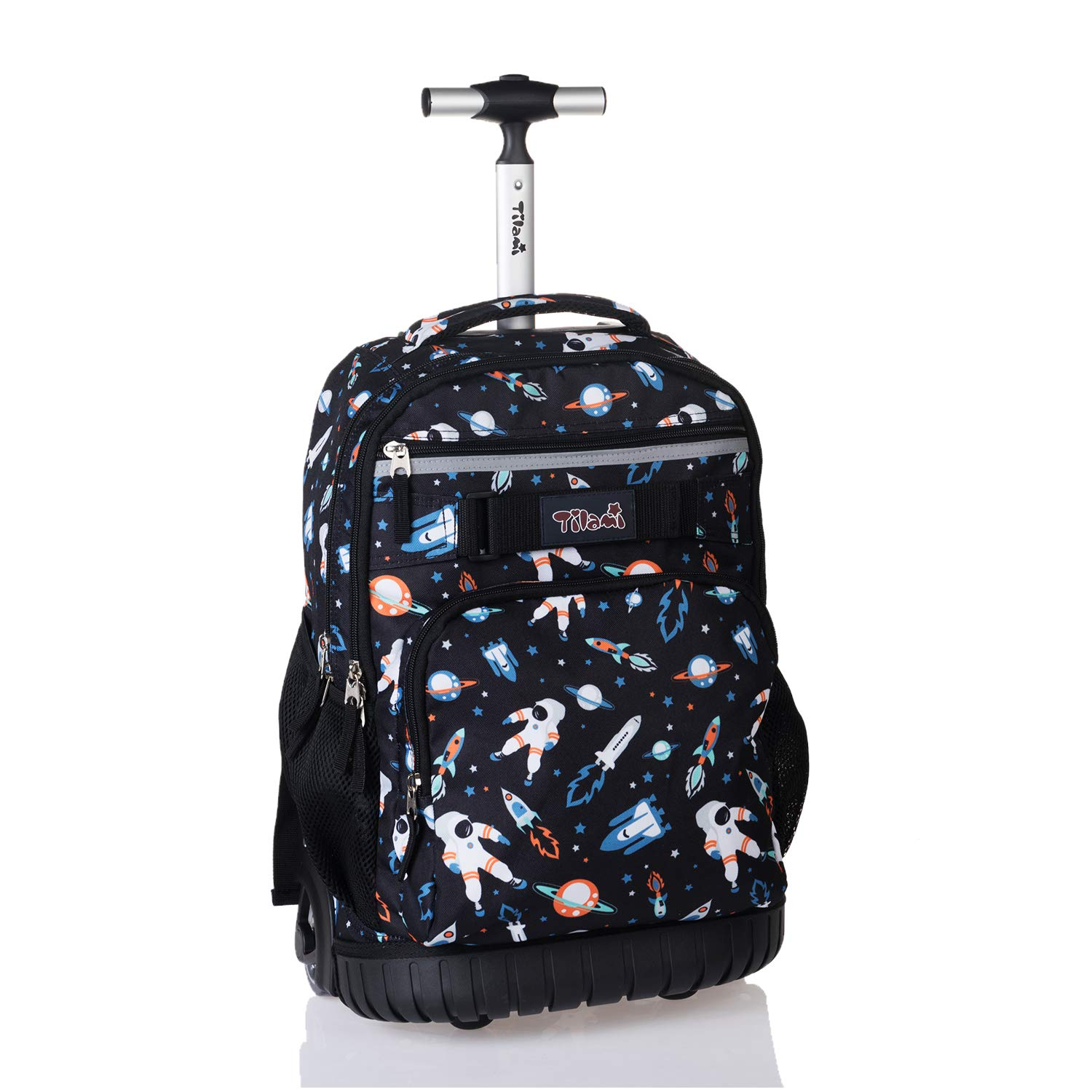Tilami Rolling Backpack 18 inch Wheeled Laptop Backpack Waterproof School College Student Travel Trip Boys and Girls, Astronaut by Tilami