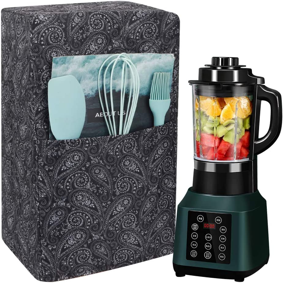 Universal Kitchen Blender Covers, Quilted Polyester Cover Compatible with Ninja 1000 Watt Professional Blender, Protector Cover for Blender Appliance 7