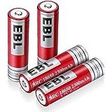 EBL 18650リチウム充電式電池 Li-ion2300mAh 4個パック 繰り返し充電 低自己放電 安全搭載 ケース付き