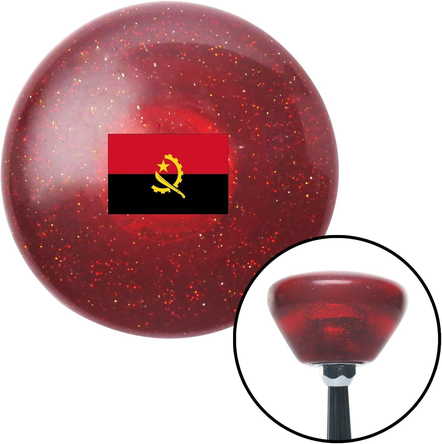 Angola Red Retro Metal Flake with M16 x 1.5 Insert American Shifter 308388 Shift Knob