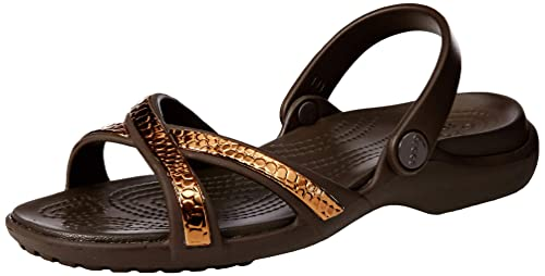 2dc89f451f48 Crocs Women s Meleen Metallic Texture Cross-Band Sandal Ladies-Choose  Size Color