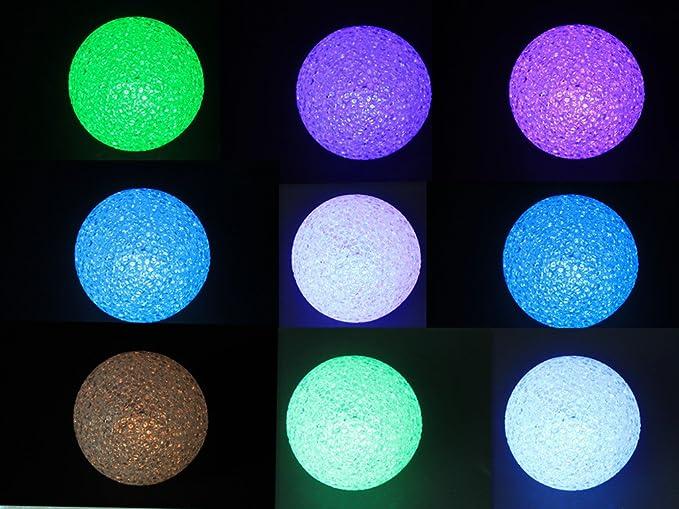Gresonic sfera atmosfera luci led a batteria palla multicolore con